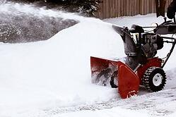 Chesterfield snow removal residential snow blowing